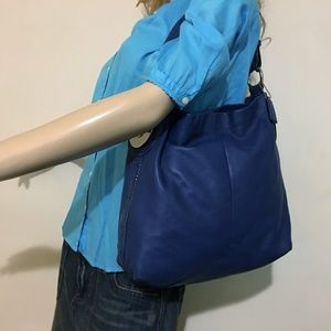 COACH PENELOPE Blue Leather Hobo F16535